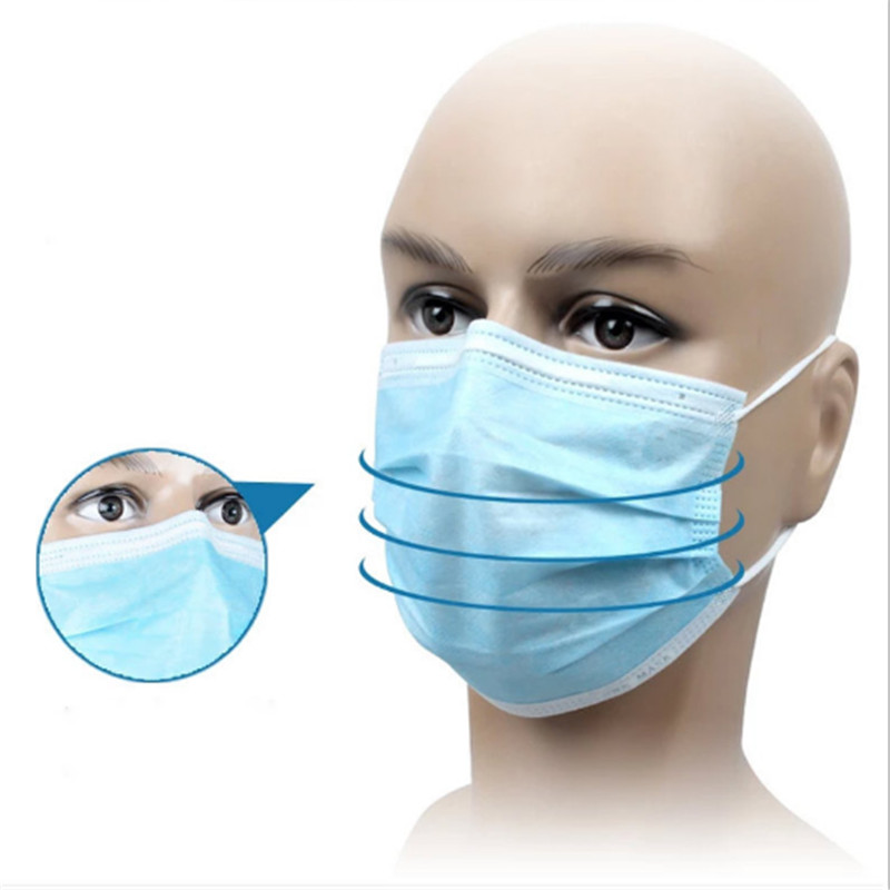 CE Certified 3Ply Disposable Protective Medical Surgical Face Mask