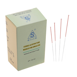 Sterile disposable Copper handle acupuncture needle without tube