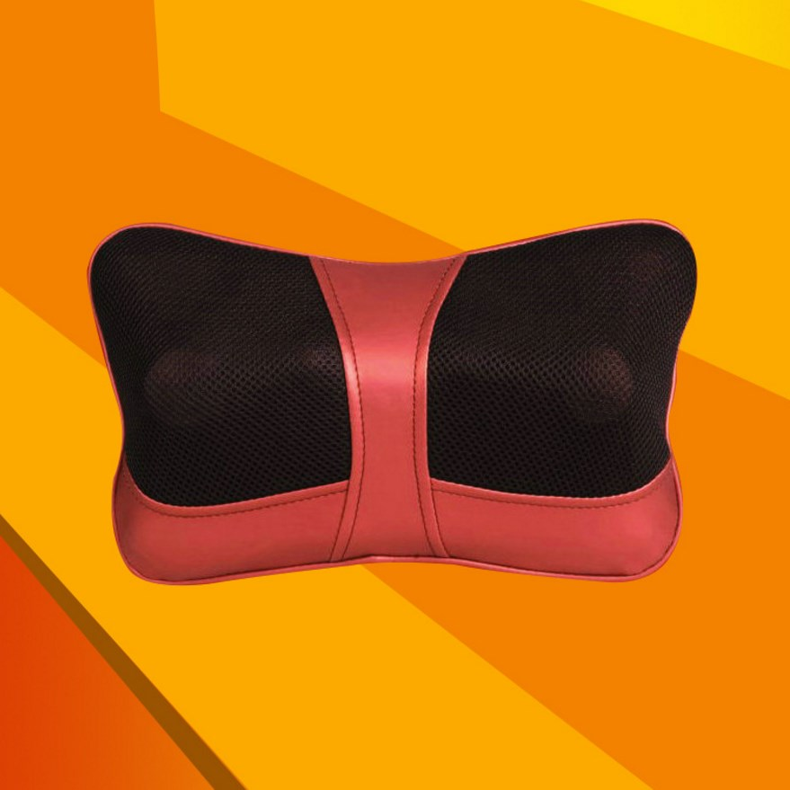 Nylon Mesh Car Massage Pillow Home Car Electric Kneading Infrared Therapy Pillow