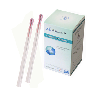 Silver Plated Handle Acupuncture Needle with Tube