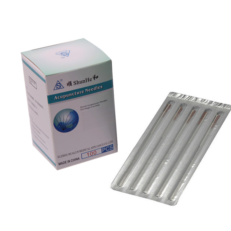 Sterile Silver Plated Handle Acupuncture Needle with tube